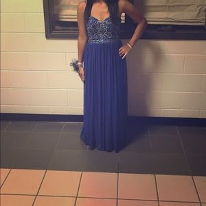 Royal blue dress(long)